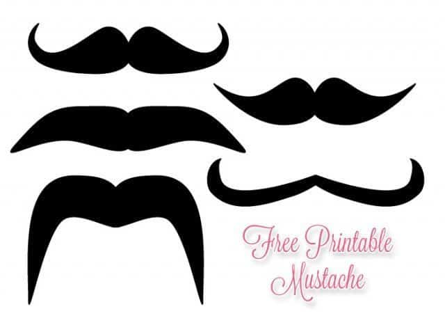 Free printable mustache how to make mustache sticks for Mustache print out template