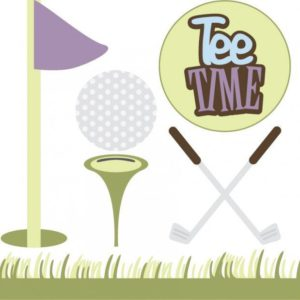 golf svg cut file for scrapbooking