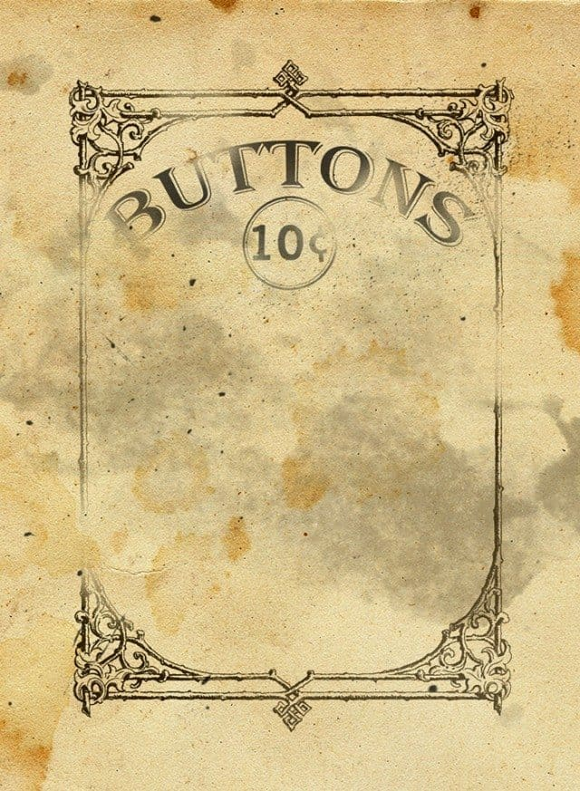 printable vintage button card