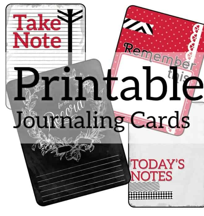 printable journal cards