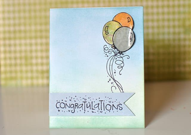 handmade ombre greeting card