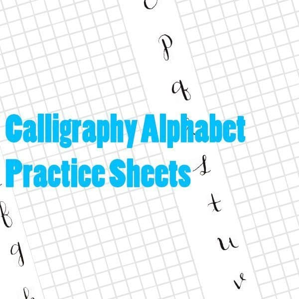 Free Printable Calligraphy Alphabet Practice Sheets