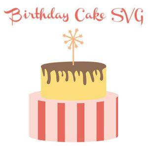 free birthday cake svg