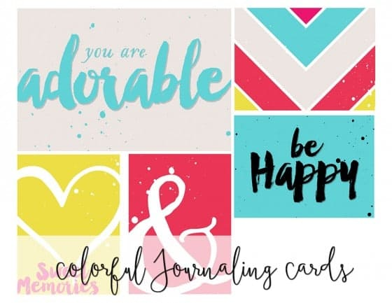 Colorful Journaling Cards
