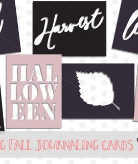 Fall SVG Journaling Cards for Project Life