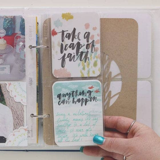 6 x 8 Project life Layouts for March