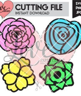 Artistic Flower SVG Cutting File | LovePaperCrafts.com