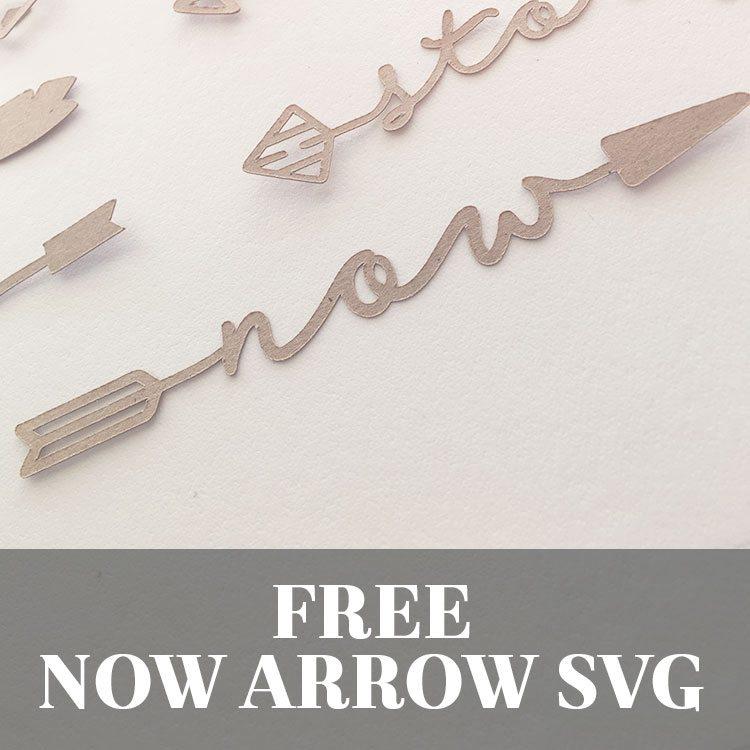Free Now Word Arrow SVG Cut File | LovePaperCrafts.com
