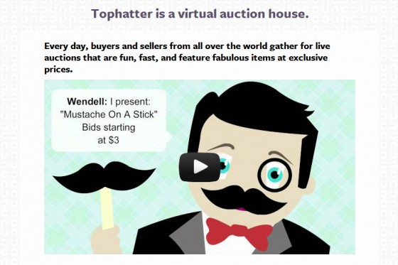 tophatter auctions website