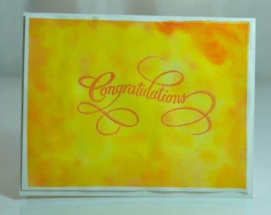 orange and yellow watercolor cards