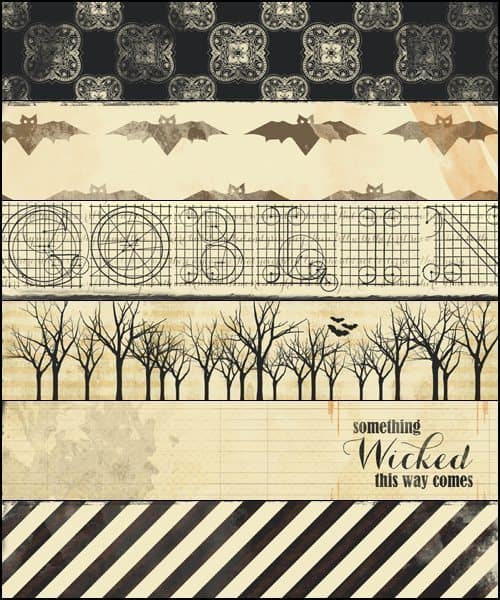 image about Printable Halloween Paper called No cost Printable Halloween Sbooking Paper