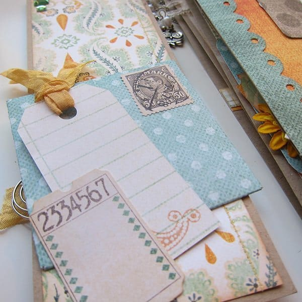 scrapbook tickets and tags