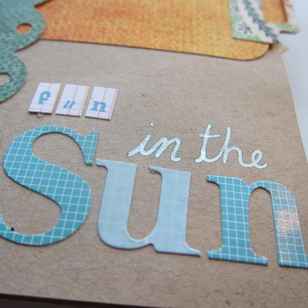 scrapbooking fun in the sun title