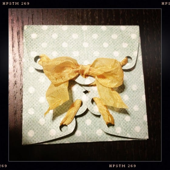 Scallop Envelope with Ribbon