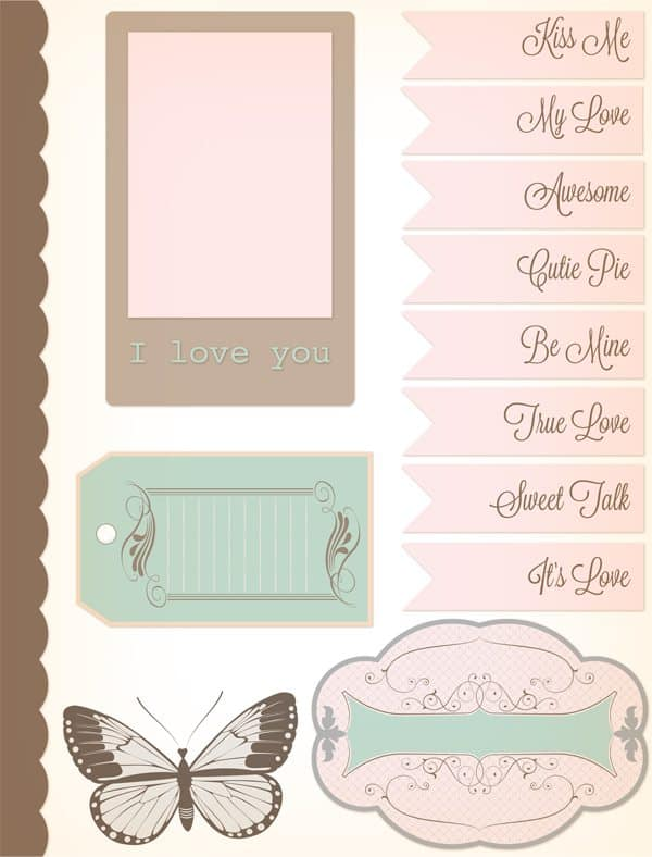 free printable valentine s day cards and scrapbook paper