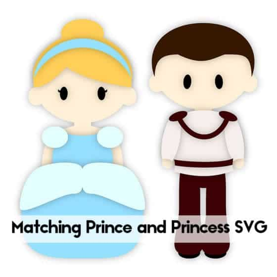 Prince and Princess SVG Cutting File | LovePaperCrafts.com