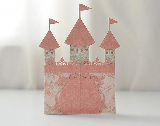 cut out castle template - castle card svg file castle party invitation