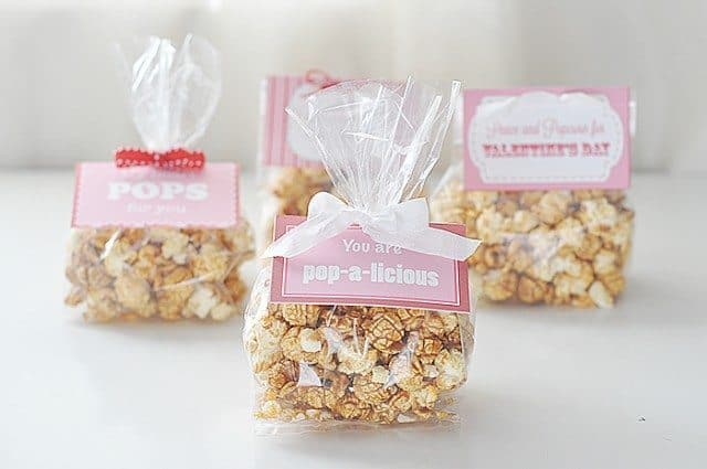 printable valentines day popcorn label