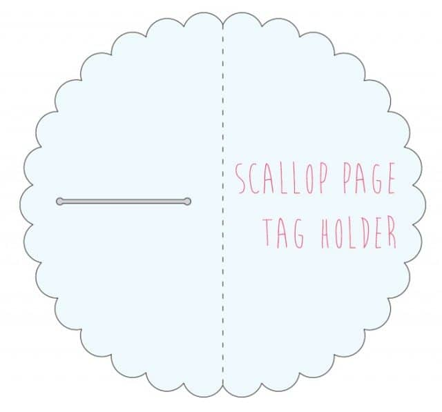 scallop page tag holder