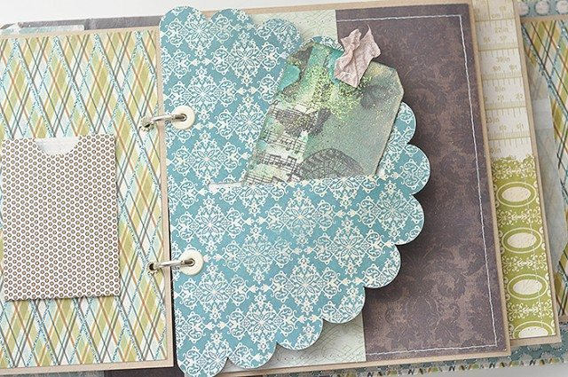 scrapbooking scallop page