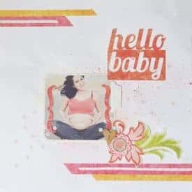 maternity scrapbook layout