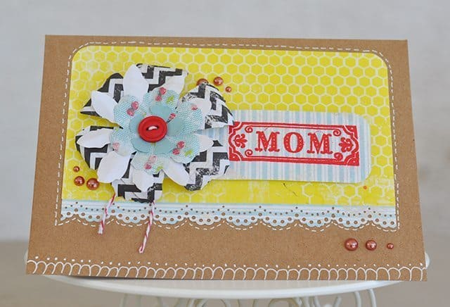faux stitching card