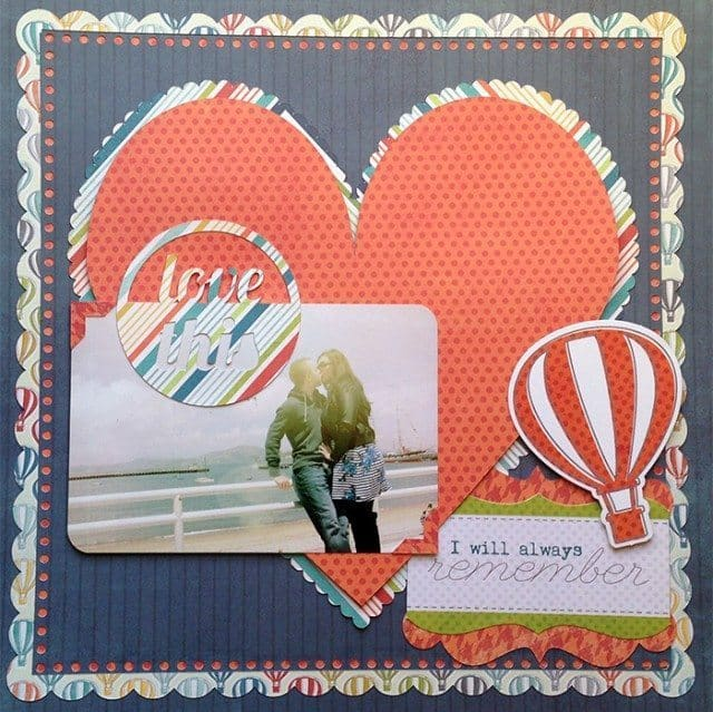 die cut scrapbook layout