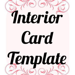 interior card template