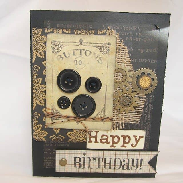 happy birthday button card