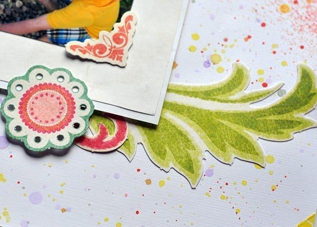 colorful scrapbook embellishments