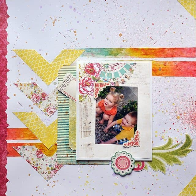 colorful scrapbook layout