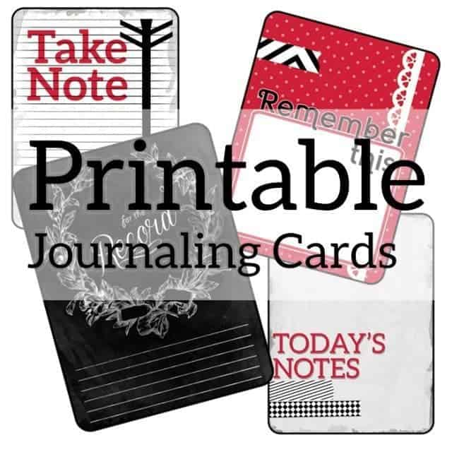 photograph relating to Free Printable Journal Cards named Cost-free Printable Journaling Playing cards for Sbooking and Job