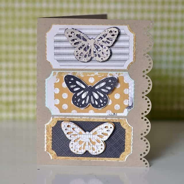 handmade butterfly card
