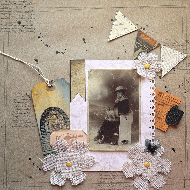 scrapbooking vintage photos