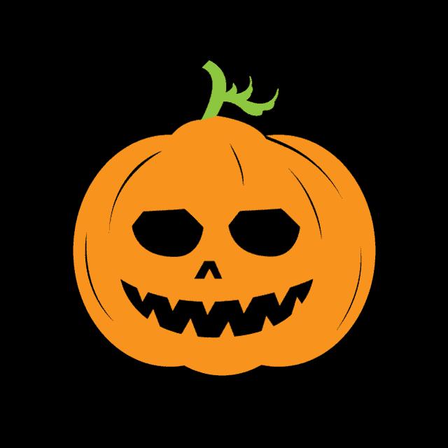 jack-o-lantern pumpkin card svg
