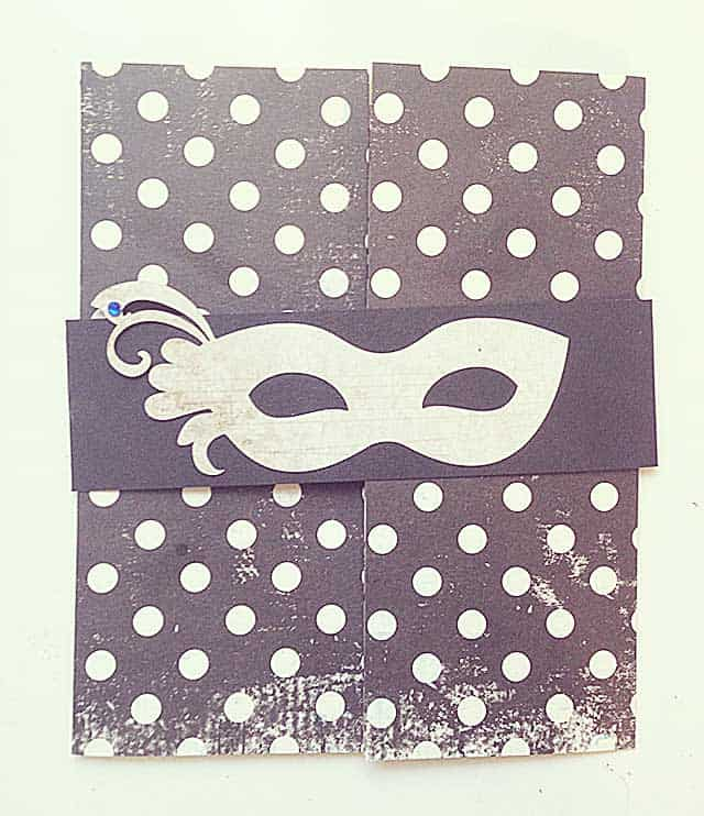 masquerade mask card svg