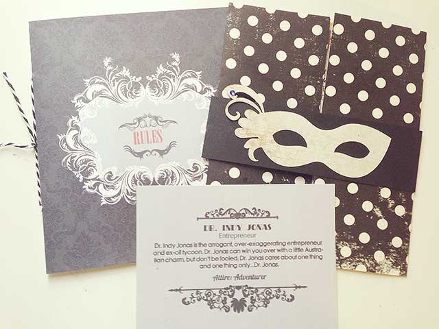 masquerade mask party invitations
