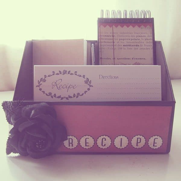handmade recipe box