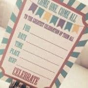 free printable circus party invitation