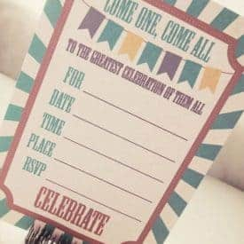 free printable circus party invitation