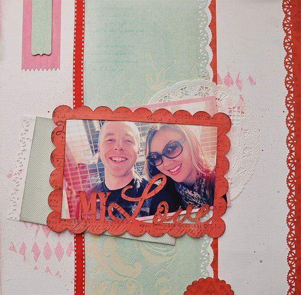 valentines day scrapbooking layout
