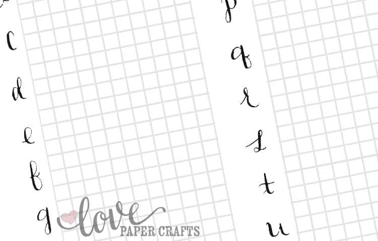 picture about Calligraphy Practice Sheets Printable titled Free of charge Printable Calligraphy Alphabet Coach Sheets