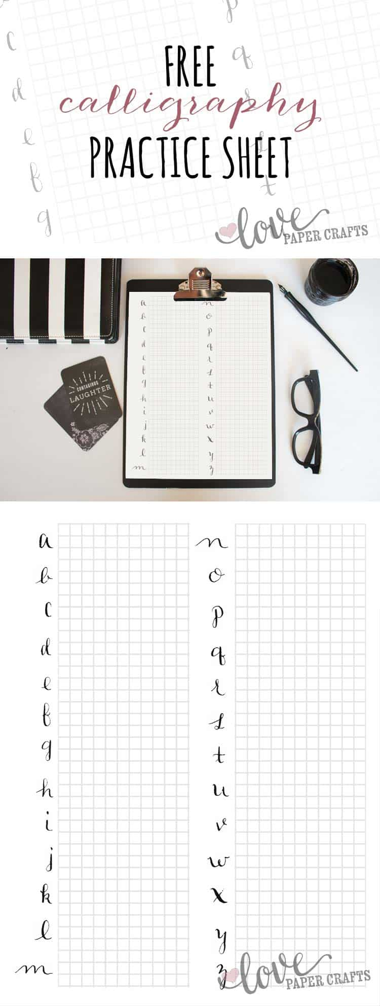 picture regarding Printable Calligraphy Practice called No cost Printable Calligraphy Alphabet Coach Sheets