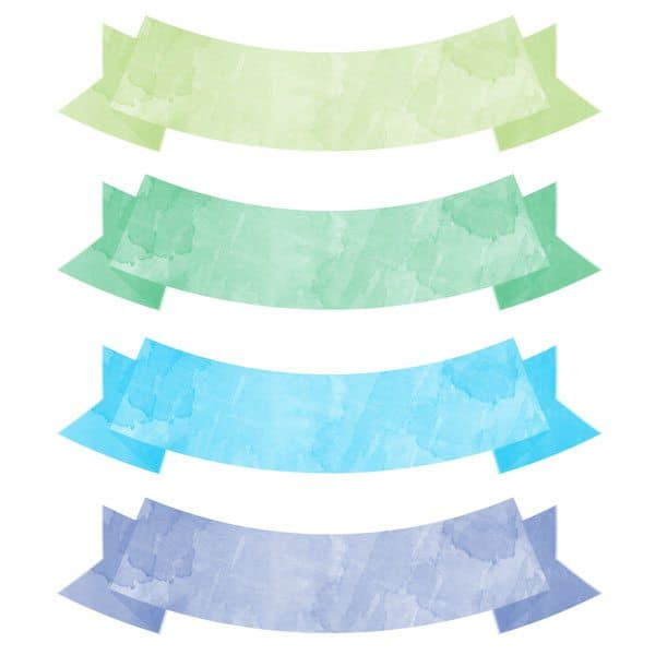 picture about Watercolor Printable called Cost-free Printable Watercolor Banners