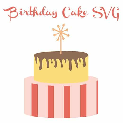 Free Birthday Cake Svg