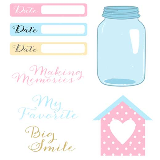 Peaceful image in free printable scrapbook cutouts