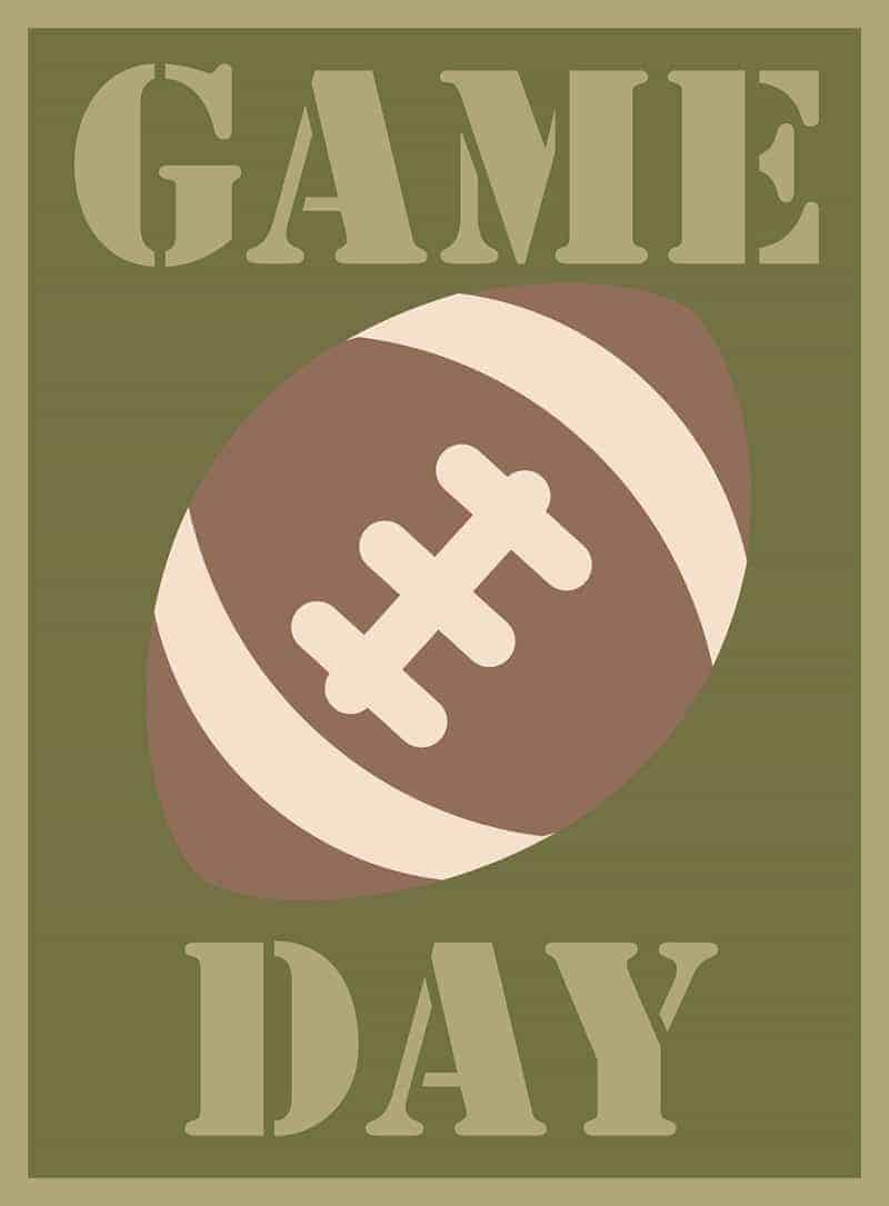 Game Day SVG Title Cutting File
