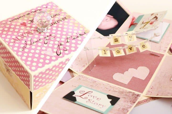 Valentine S Day Mini Album Explosion Box Tutorial