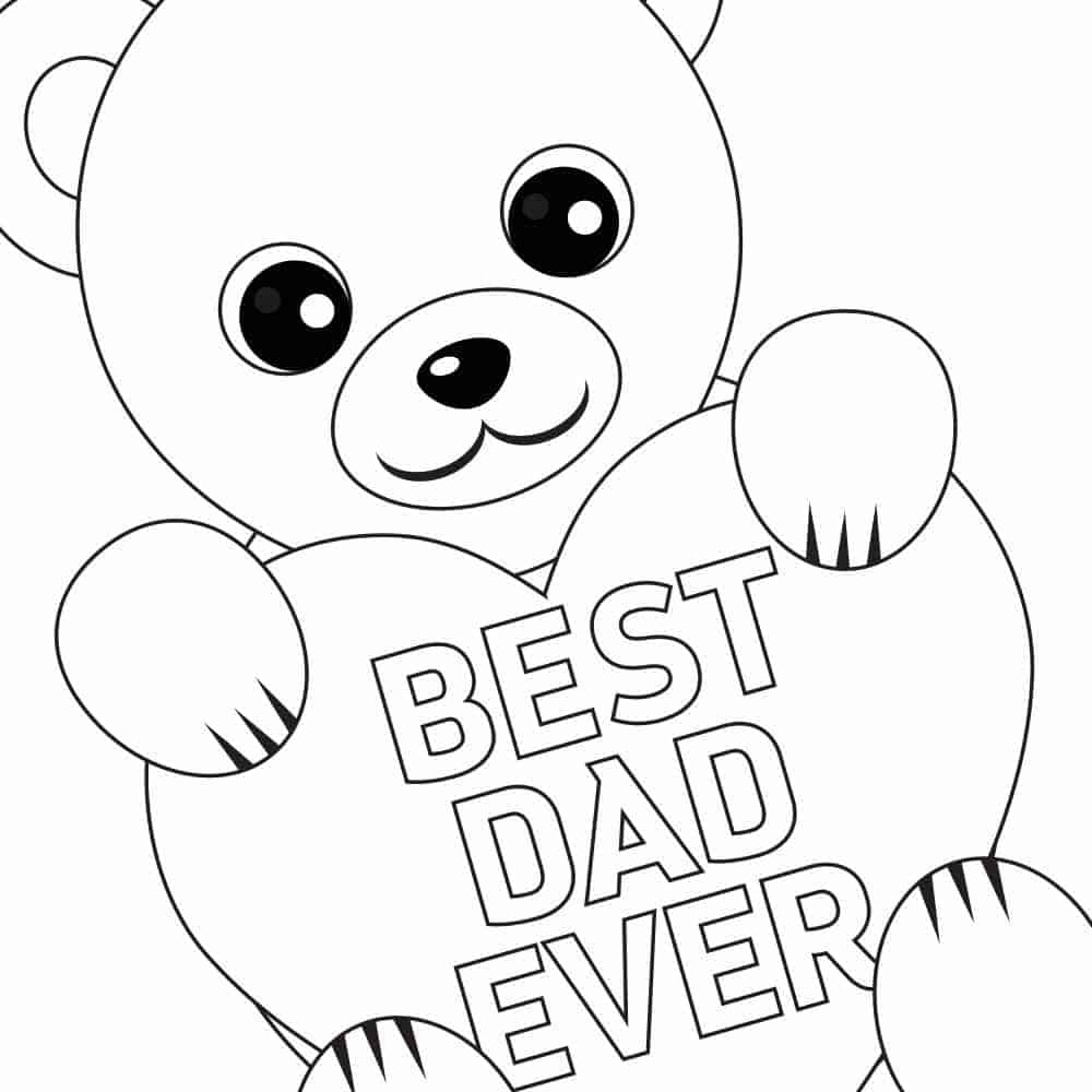 fathers day card coloring pages - photo#24