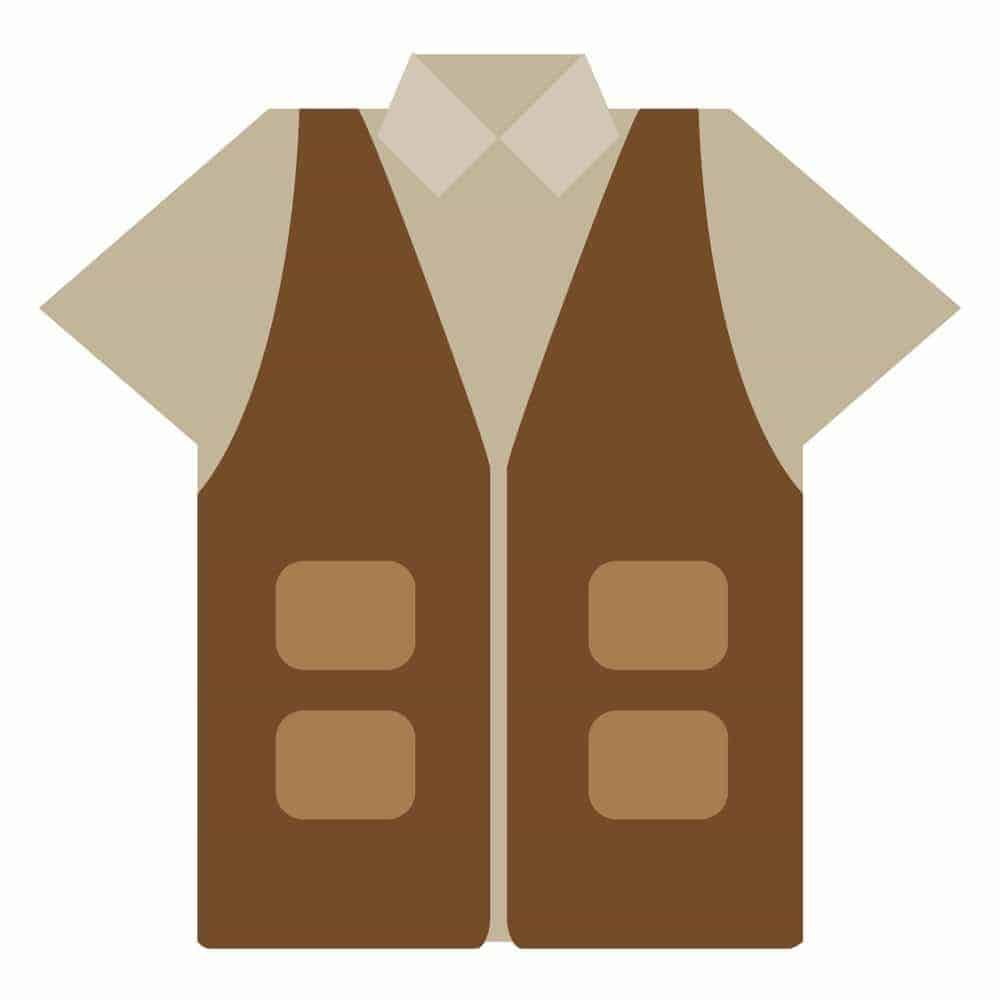 Free Fishing Vest SVG